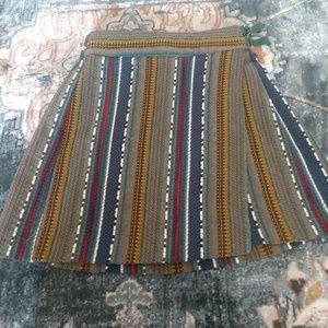 Size 9 Multi Colored Zara Wrap Skirt